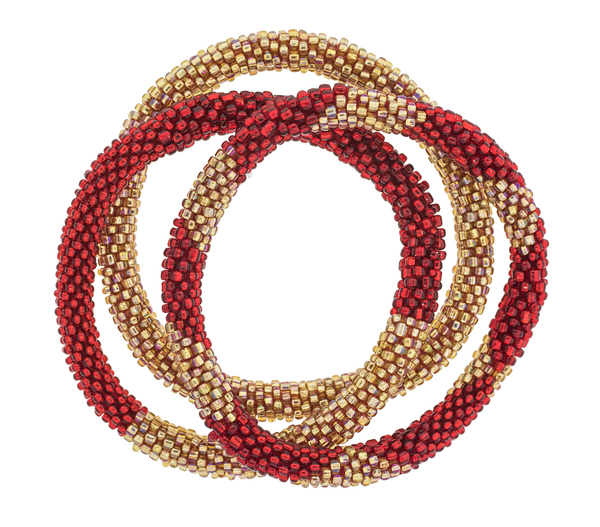 Roll-On® Bracelets <br> Poinsettia 2
