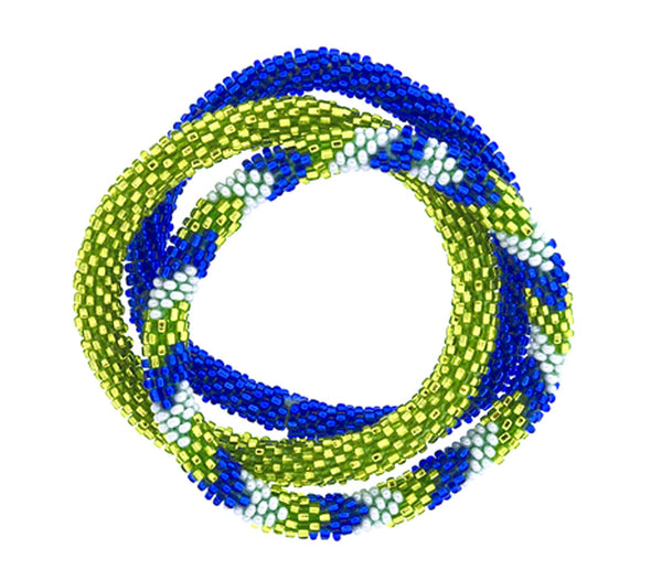 Team Spirit Roll-On® Bracelets <br> Blue & Green