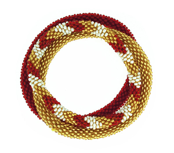 Team Spirit Roll-On® Bracelets <br> Burgundy & Gold