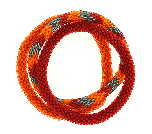 Team Spirit Roll-On® Bracelets <br> Burgundy & Orange