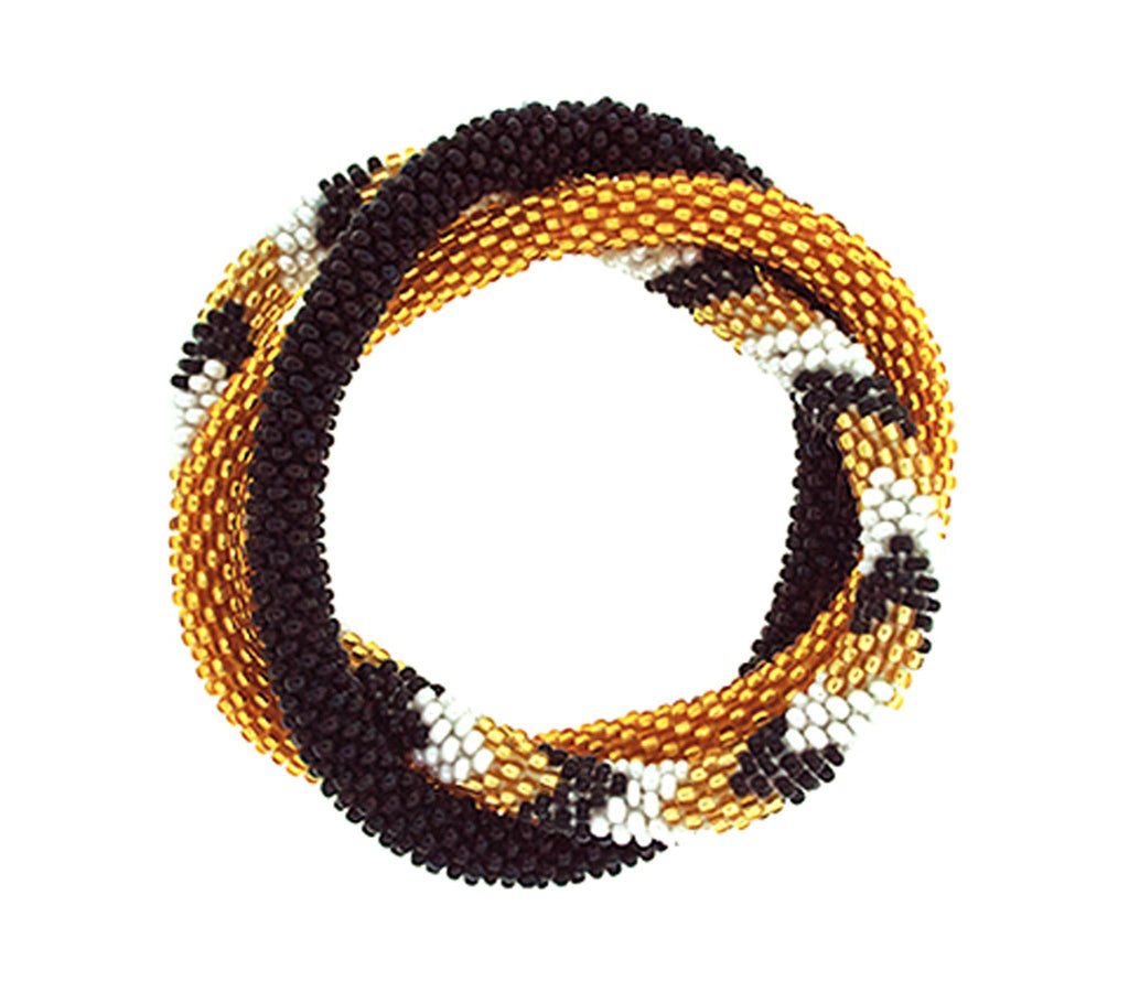Team Spirit Roll-On® Bracelets <br> Gold, White & Black