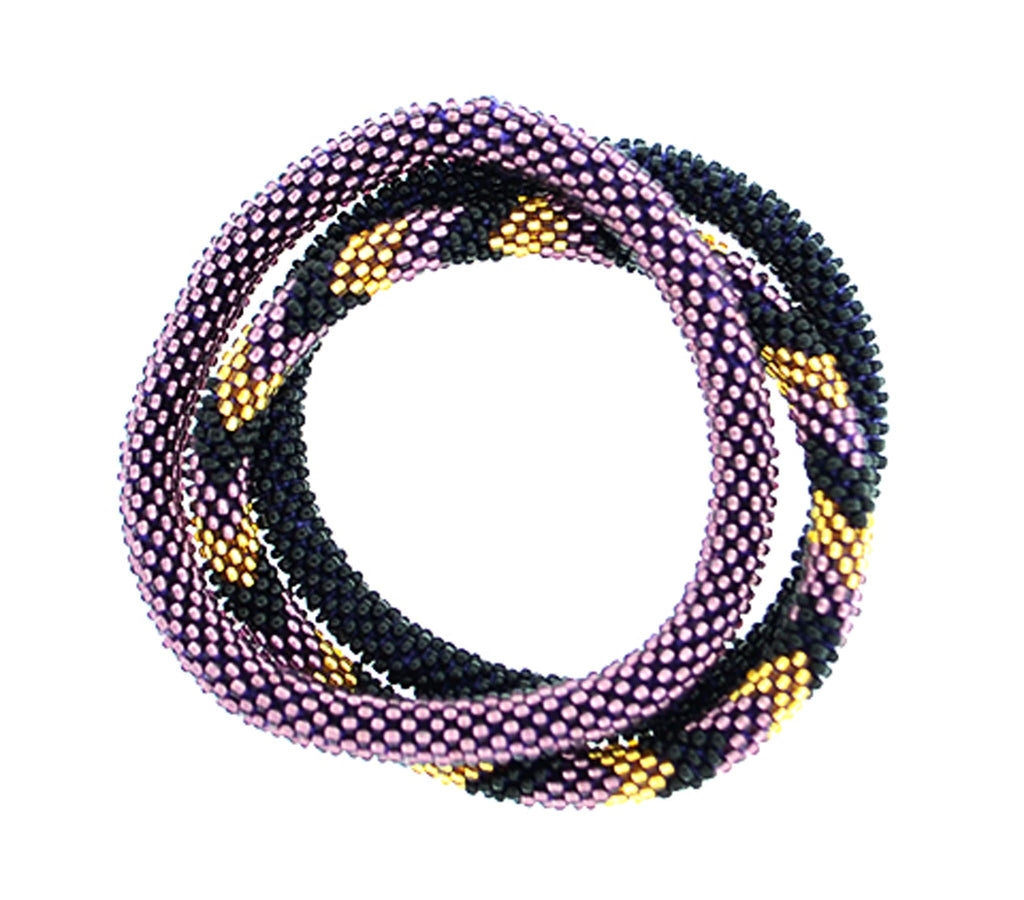 Team Spirit Roll-On® Bracelets <br> Purple & Black