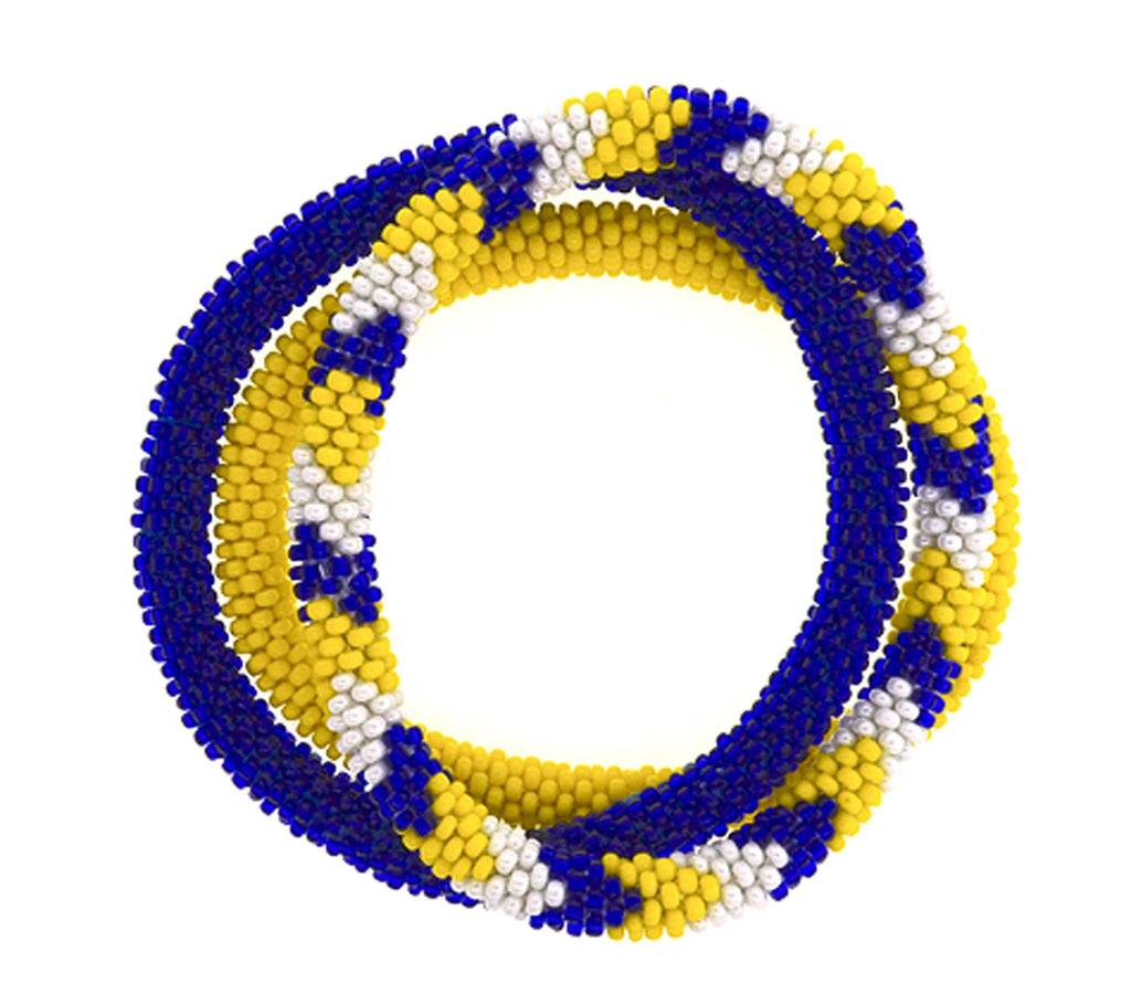 Team Spirit Roll-On® Bracelets <br> Yellow & Navy