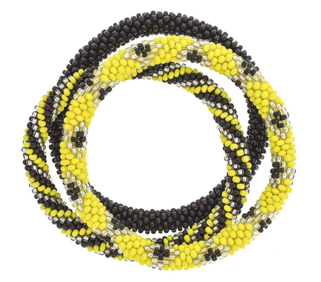 Game Day Roll-On® Bracelets <br> Black & Yellow