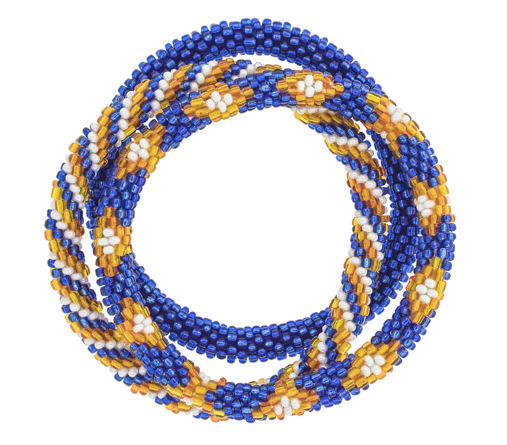 Game Day Roll-On® Bracelets <br> Blue & Orange