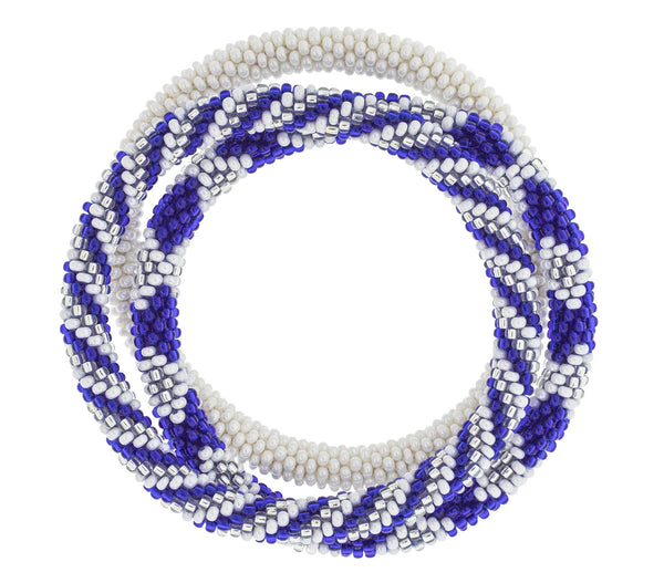 Game Day Roll-On® Bracelets <br> Blue & White