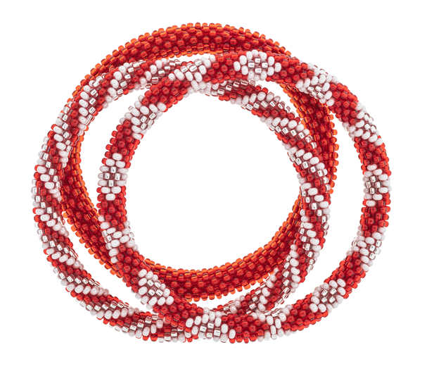 Game Day Roll-On® Bracelets <br> Red and White