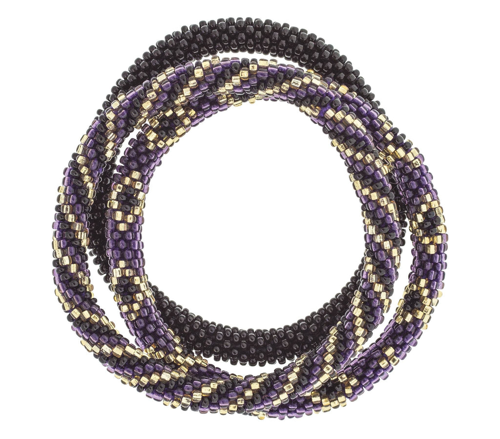 Game Day Roll-On® Bracelets <br> Purple and Black