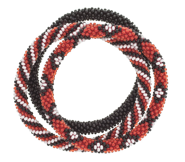 Game Day Roll-On® Bracelets <br> Red, Black, and White