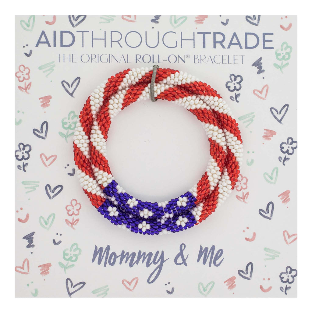 <br> Mommy & Me Roll-On® Bracelets <br> Stars & Stripes