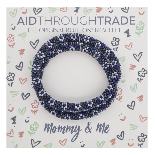Adult Mommy & Me Roll-On® Bracelets <br> Indigo