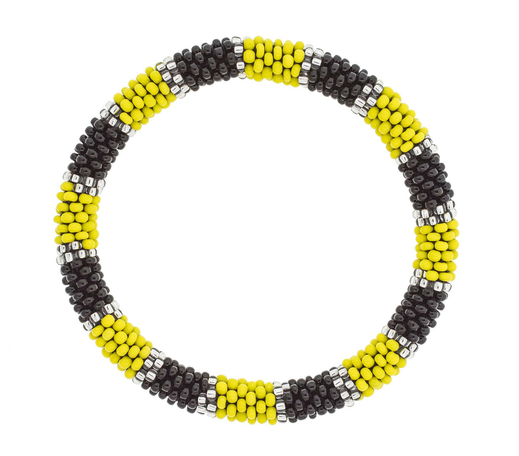 Game Day Roll-On® Bracelet <br> Black and Yellow