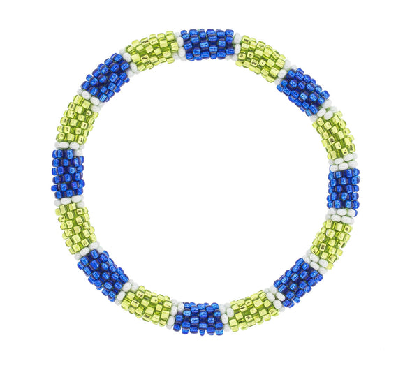Game Day Roll-On® Bracelet <br> Blue and Green