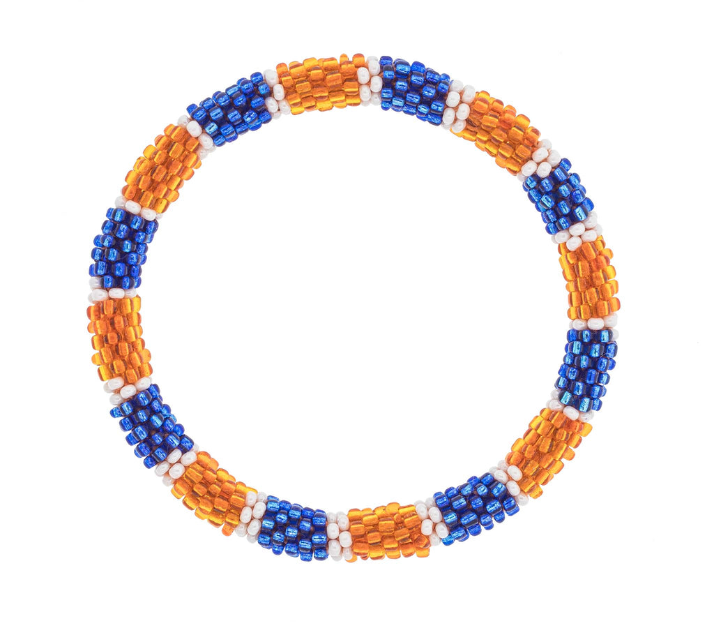 Game Day Roll-On® Bracelet <br> Blue and Orange