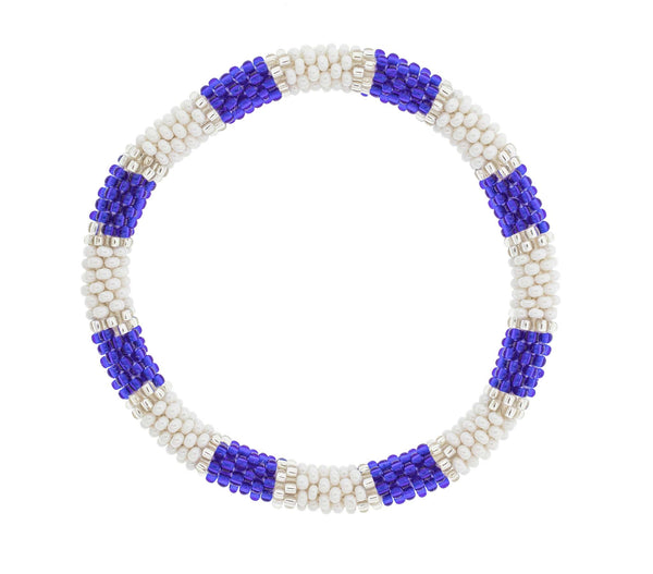 Game Day Roll-On® Bracelet <br> Blue and White