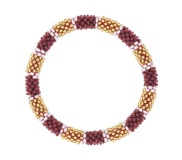 Game Day Roll-On® Bracelet <br> Burgundy and Gold
