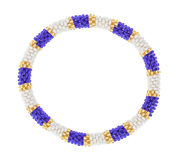 Game Day Roll-On® Bracelet <br> Gold and Navy