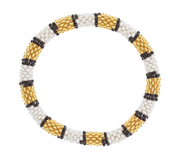 Game Day Roll-On® Bracelet <br> Gold, White, and Black