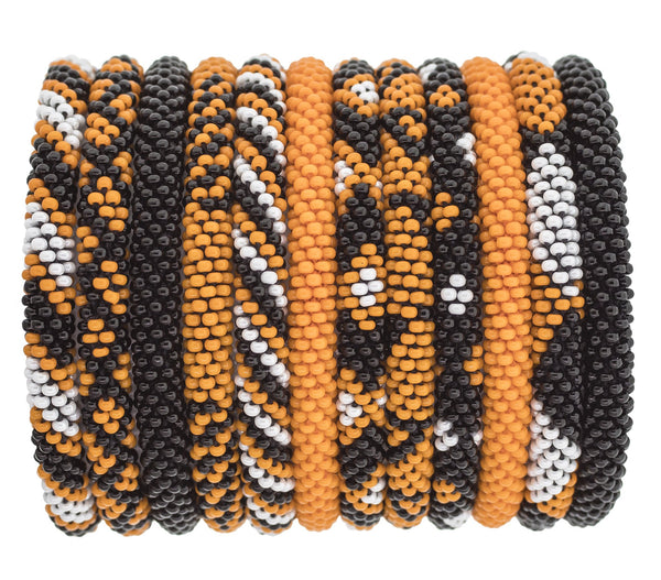Game Day Roll-On® Bracelets <br> Orange and Black