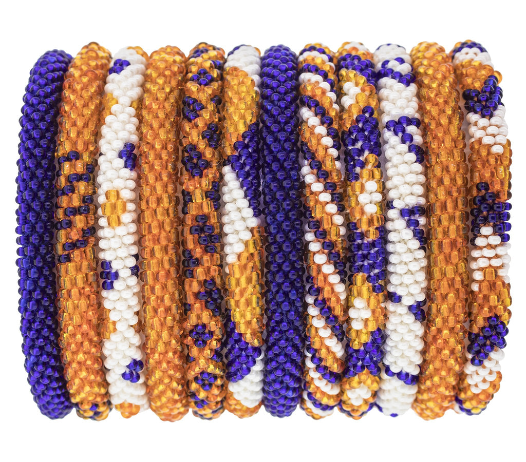 Game Day Roll-On® Bracelets <br> Orange and Navy