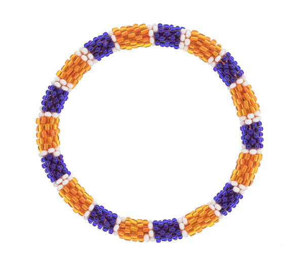 Game Day Roll-On® Bracelet <br> Orange and Navy