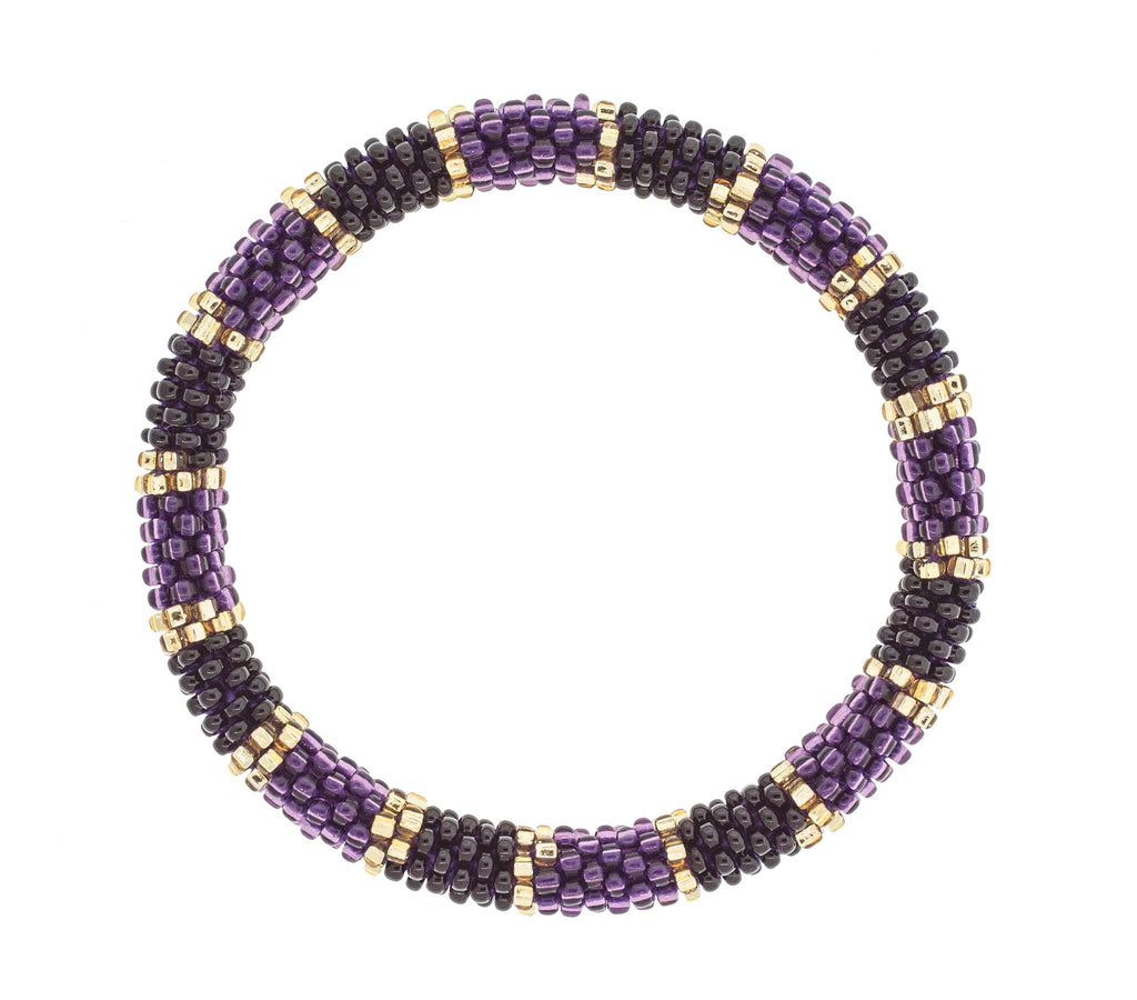 Game Day Roll-On® Bracelet <br> Purple and Black