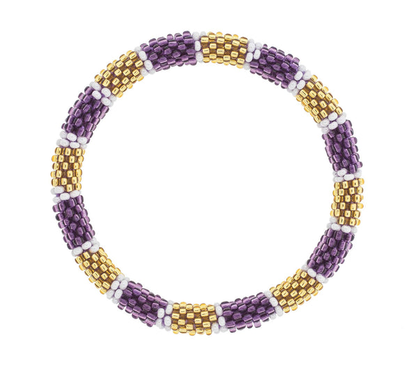 Game Day Roll-On® Bracelet <br> Purple and Gold