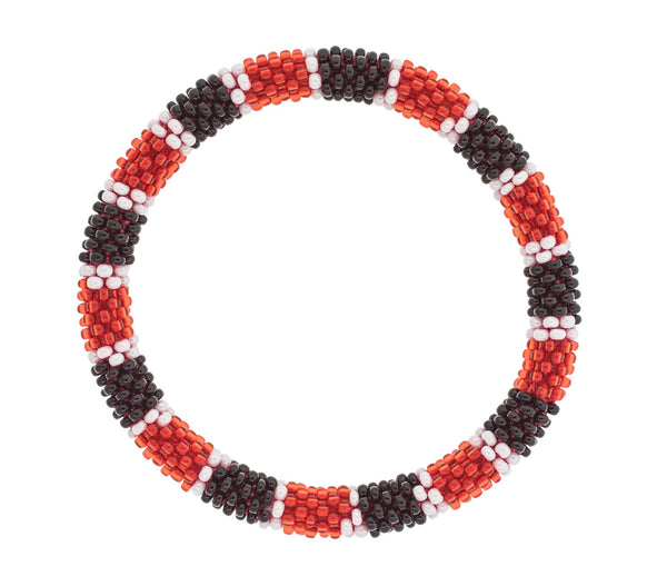 Game Day Roll-On® Bracelet <br> Red, Black, and White
