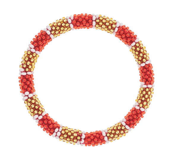 Game Day Roll-On® Bracelet <br> Red and Gold