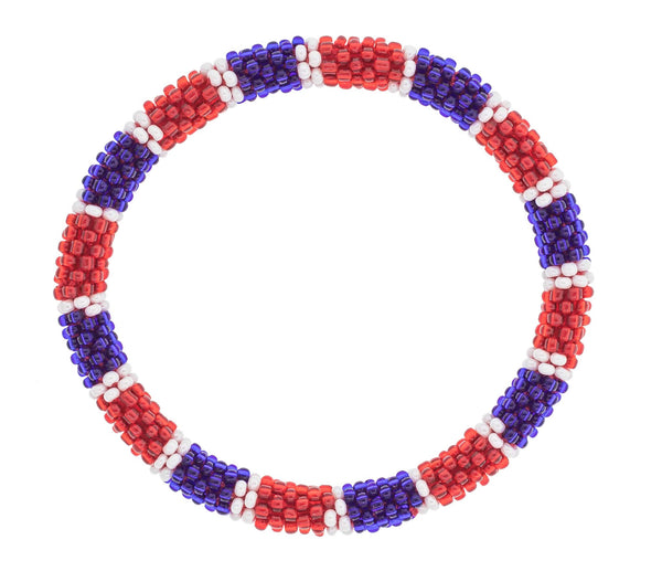 Game Day Roll-On® Bracelet <br> Red, White, and Blue