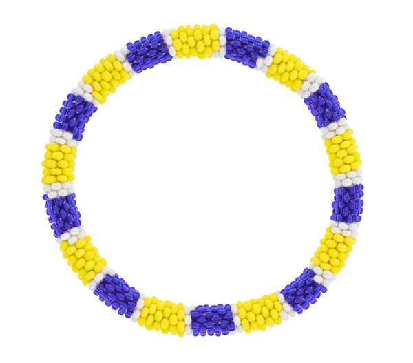 Game Day Roll-On® Bracelet <br> Yellow and Navy