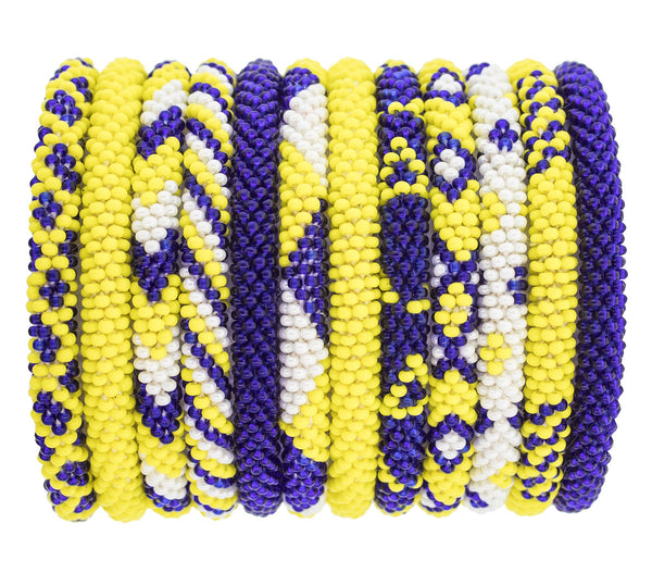 Game Day Roll-On® Bracelets <br> Yellow and Navy