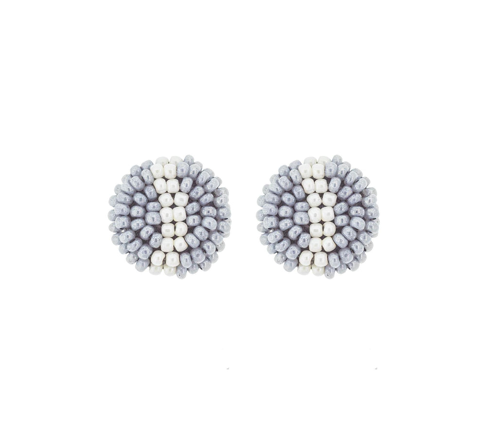 <br>The Button Earring- Stripe <br> Pixie