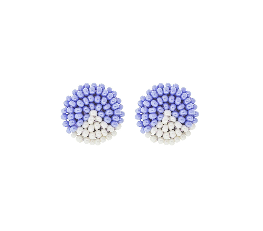 <br>The Button Earring- Triangle <br> Periwinkle