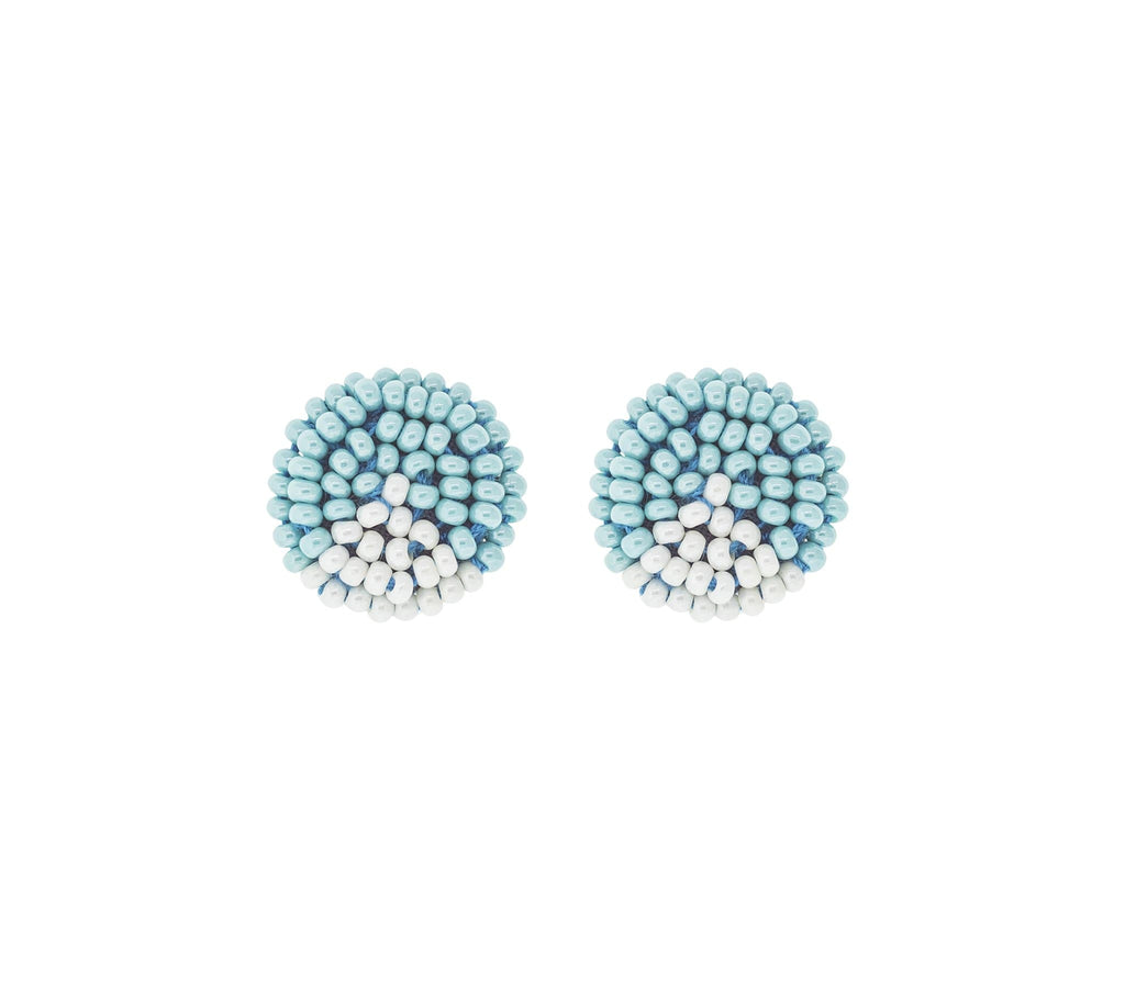 <br>The Button Earring- Triangle <br> Turquoise