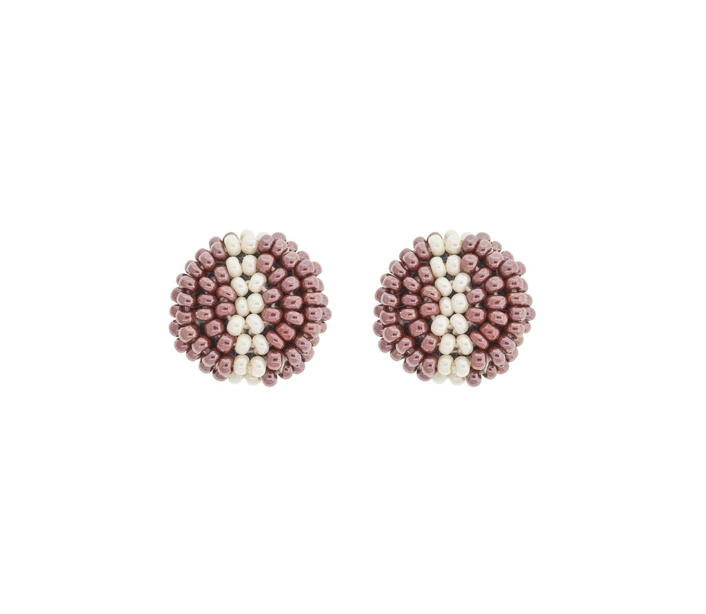 <br>The Button Earring: Stripe<br> Wildflower