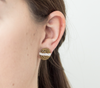 <br>The Button Earring: Stripe<br> Saffron