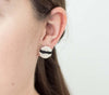 <br>The Button Earring: Stripe<br> Cream