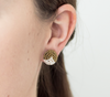 <br>The Button Earring: Triangle<br> Saffron