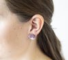 <br>The Button Earring- Triangle <br> Mauve