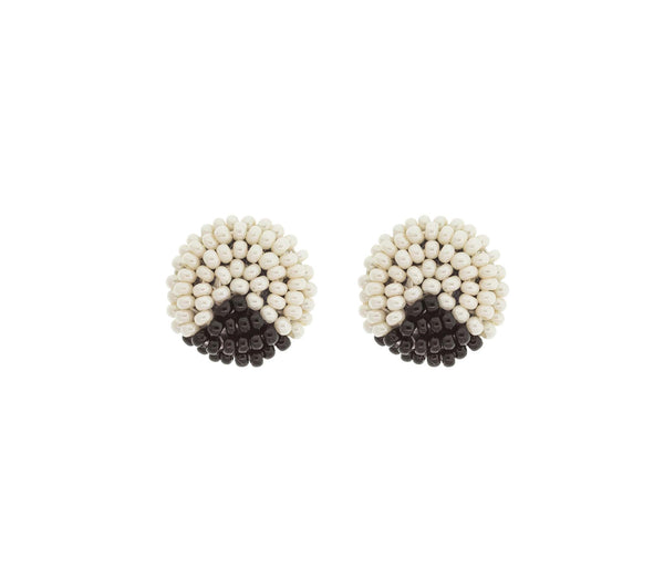 <br>The Button Earring: Triangle<br> Cream