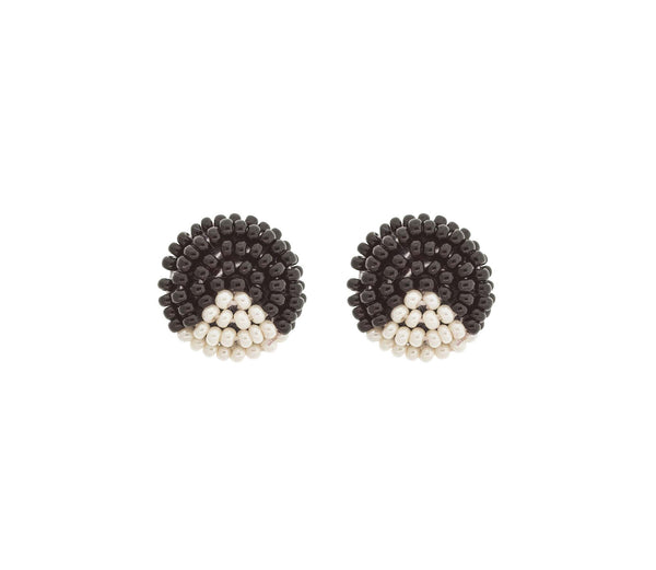 <br>The Button Earring: Triangle<br> Black