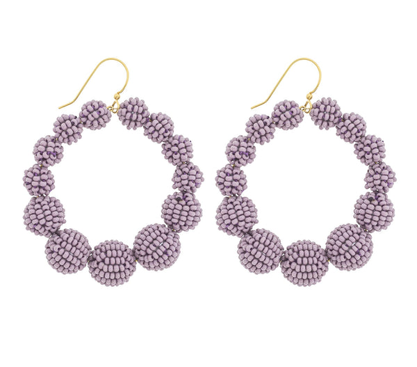 <br>The Olivia Hoop <br> Mauve