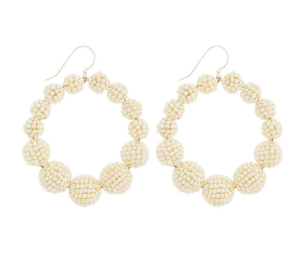 <br>The Olivia Hoop <br> Cream