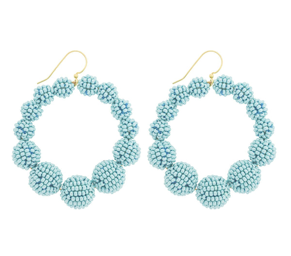 <br>The Olivia Hoop <br> Turquoise