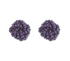 Rosette Earrings <br> Indigo