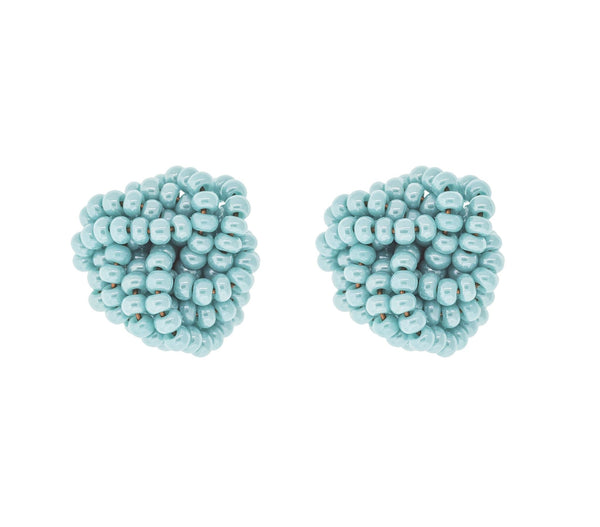 <br>Rosette Earrings <br> Turquoise