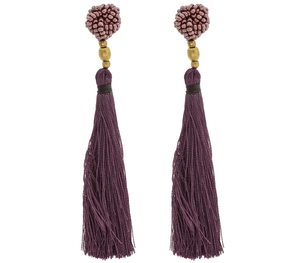 <br>The Rosette Tassel Earring <br> Wildflower