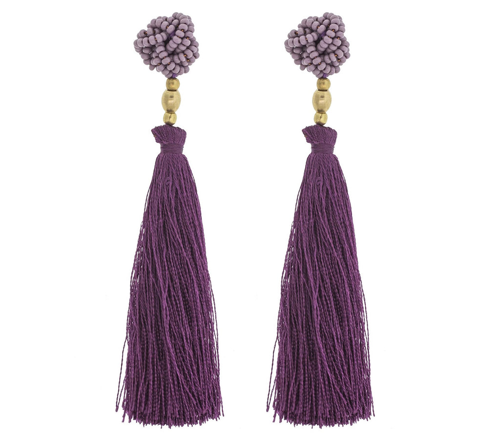 <br>The Rosette Tassel <br> Mauve