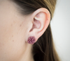 <br>Rosette Earrings<br> Wildflower